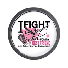 Fight Like A Girl Breast Cancer Wall Clock
