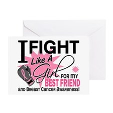 Fight Like A Girl Breast Cancer Greeting Card