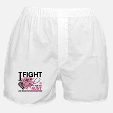 Fight Like A Girl Breast Cancer Boxer Shorts
