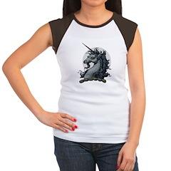 Angry Unicorn Women's Cap Sleeve T-Shirt