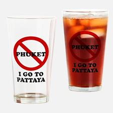 I GO TO PATTAYA Drinking Glass