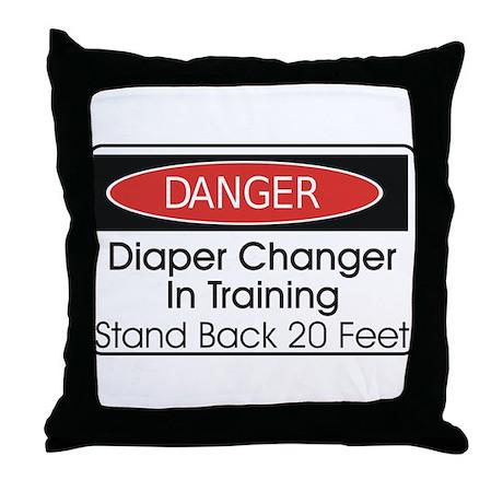 Diaper Changer Throw Pillow