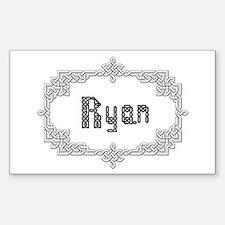"""Celtic Knots Ryan"" Rectangle Decal"