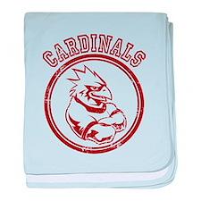 Cardinals team Mascot Gaphic baby blanket