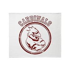 Cardinals team Mascot Gaphic Throw Blanket