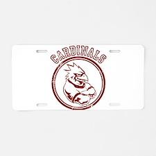Cardinals team Mascot Gaphic Aluminum License Plat