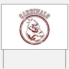 Cardinals team Mascot Gaphic Yard Sign