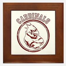 Cardinals team Mascot Gaphic Framed Tile