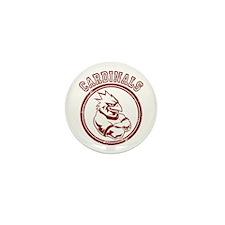 Cardinals team Mascot Gaphic Mini Button