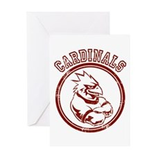 Cardinals team Mascot Gaphic Greeting Card