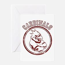 Cardinals team Mascot Gaphic Greeting Card