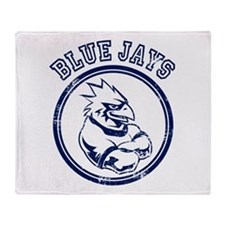 Blue Jays Team Mascot Graphic Throw Blanket