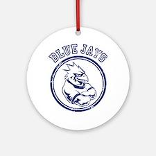 Blue Jays Team Mascot Graphic Ornament (Round)