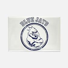 Blue Jays Team Mascot Graphic Rectangle Magnet