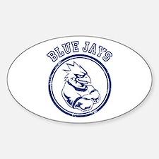 Blue Jays Team Mascot Graphic Sticker (Oval)