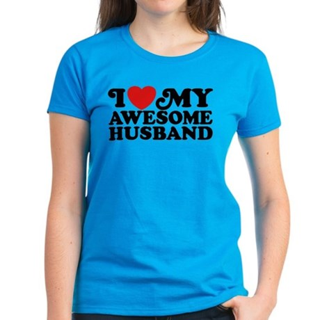 I Love My Awesome Husband Women's Dark T-Shirt