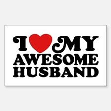 I Love My Awesome Husband Sticker (Rectangle)