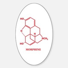 Morphine Molecule Oval Decal