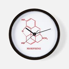 Morphine Molecule Wall Clock