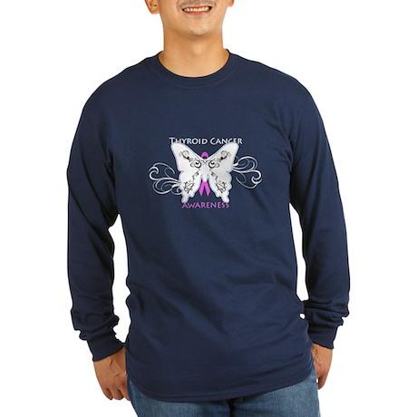 Thyroid Cancer Awareness Long Sleeve Dark T-Shir