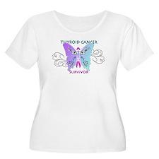 Thyroid Cancer Survivor Women's Plus Tee Shirt