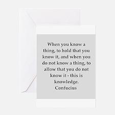 confucius wisdom Greeting Card