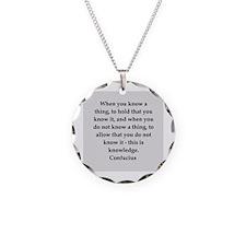 confucius wisdom Necklace