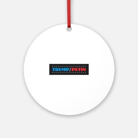 Trump Putin Round Ornament