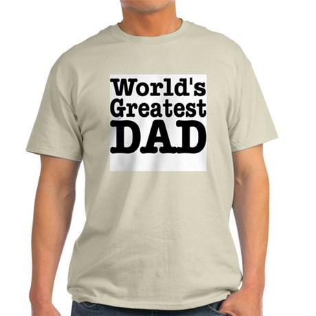 World's Greatest Dad Ash Grey T-Shirt