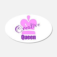 Creative Queen 22x14 Oval Wall Peel