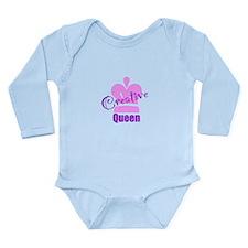 Creative Queen Long Sleeve Infant Bodysuit