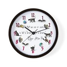 """""""Poe"""" Wall Clock"""