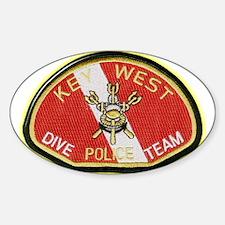 Key West Police Diver Sticker (Oval)