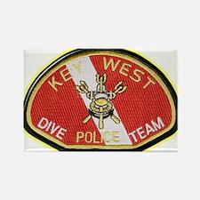 Key West Police Diver Rectangle Magnet