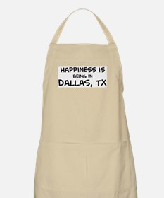 Happiness is Dallas BBQ Apron