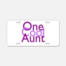 One Cool Aunt Aluminum License Plate