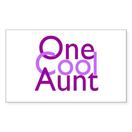 One Cool Aunt Sticker (Rectangle)