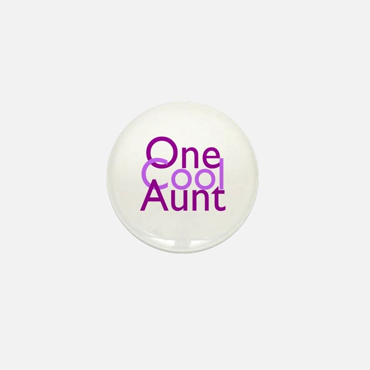 One Cool Aunt Mini Button