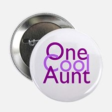 """One Cool Aunt 2.25"""" Button"""