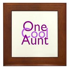One Cool Aunt Framed Tile