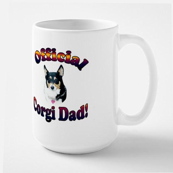 Official Corgi Dad-Mist Large Mug