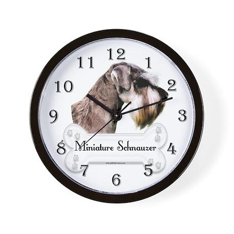 Schnauzer 1 Wall Clock By Grywolfcreation