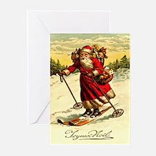 Santa 11 Vintage Christmas Greeting Cards (Pk of 1