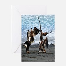 Eagles Greeting or Conflict? Greeting Card