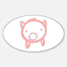 Pig Doodle Sticker (Oval)