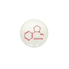 Nicotine Molecule Mini Button (100 pack)