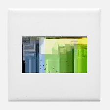 Cute Color bars Tile Coaster