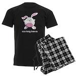 Some Bunny Loves Me Men's Dark Pajamas