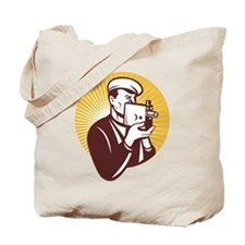 Cameraman vintage Tote Bag