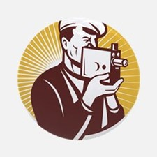Cameraman vintage Ornament (Round)